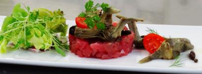 Trattoria Pizzeria Ristorante Cittadella Locarno Hotel Specialità di Pesce Fisch Spezialitäten - Tartar di tonno